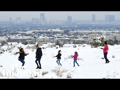 Las Vegas gets first significant snow for years after rare winter storm