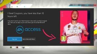 FIFA 20 EA ACCESS BUGA E VAZA JOGO NO PS4 e WEB APP MUITO PROXIMO!