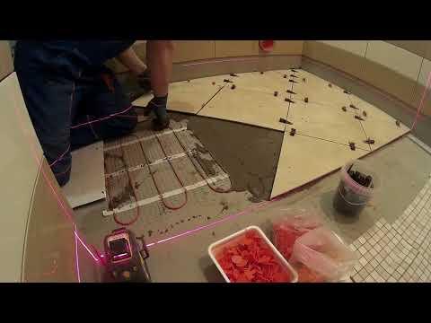 Ремонт квартиры своими руками. Часть 11. Теплый пол, плитка и мозаика на пол.