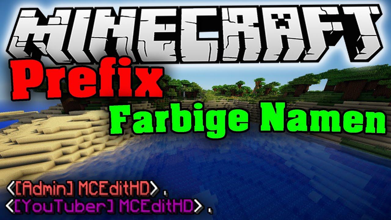 MINECRAFT Farbige Namen Präfixe In VANILLA Tutorial - Minecraft farbige namen andern