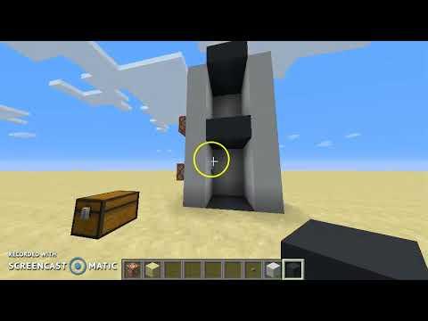 Minecraft Tutorial: Command Block Elevator (no x y z) - (1.12.2)