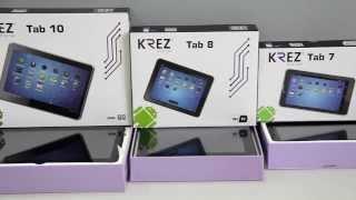 Видеообзор по планшетного компьютера KREZ Tab 7(Мы представляем обзор планшетного ПК KREZ Tab 7, произведенного в Гонконге на предприятиях компании KREZ., 2014-03-04T13:26:55.000Z)