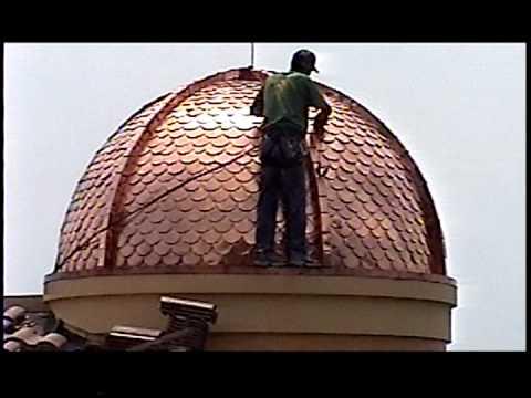 How to polish a hand cut fish scale copper dome to prepare for Fish scale coke cut