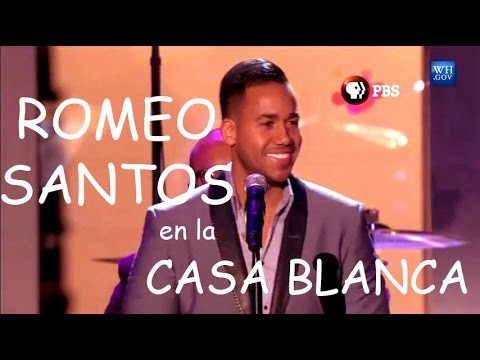 """Romeo Santos cantando """"Jose"""" en la Casa Blanca 2014 ..."""