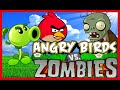 Angry Birds Plants Vs Zombies Shooting Skill Game Walkthrough Levels 1-28