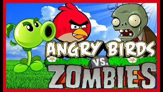Angry Birds Plants Vs Zombies 4 Shooting Game Walkthrough All Levels 1-28