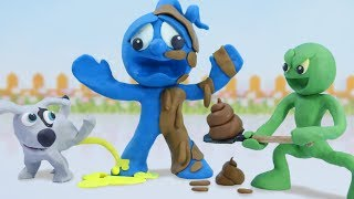 Tiny Fights With His Stinky Neighbor - Funny Moment Stop Motion Animation Cartoons