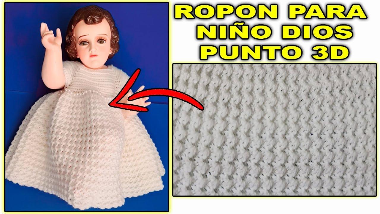 ROPON A CROCHET PUNTO 3D   ROPON PARA NIÑO DIOS TEJIDO A GANCHILLO PARTE #1