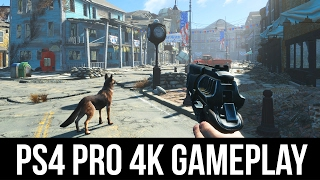 Fallout 4  PS4 Pro 4K Gameplay