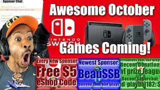 FANTASTIC NINTENDO SWITCH GAMES COMING IN OCTOBER!