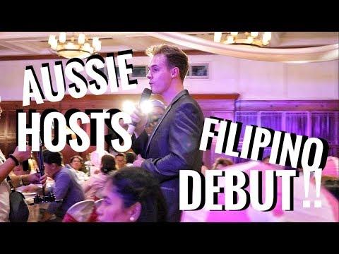 AUSTRALIAN GUY HOSTS FILIPINO DEBUT IN TAGALOG!!