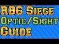 Rainbow Six Siege - Optic/Sight Guide