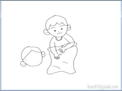 Video Tutorial Menggambar Anak Lomba Balapan Karung Youtube