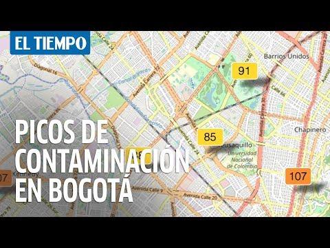 Cómo entender  el mapa de la calidad del aire en Bogotá | EL TIEMPO