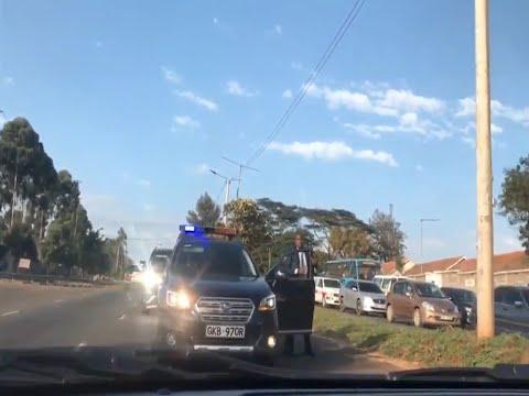 Activist Boniface Mwangi goes head to head with VIP motorcade AGAIN!