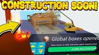 NEW CONSTRUCTION UPDATE SOON! Roblox Unboxing Simulator