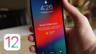 iOS 12: Weather Lock Screen!