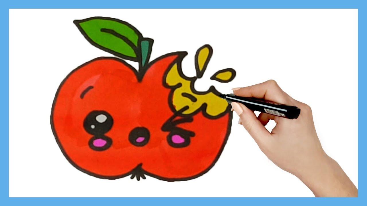 Como Dibujar Manzana Kawaii Paso A Paso Dibujos Kawaii Faciles