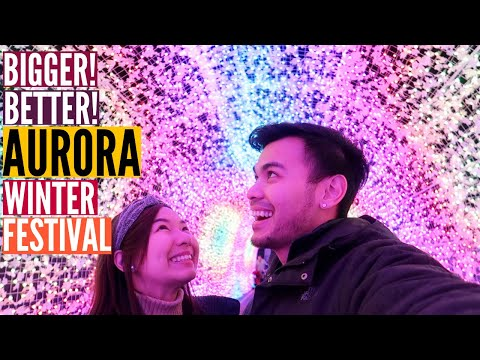 The Aurora Winter Festival And It's NEW Location At The PNE // Nat And Max