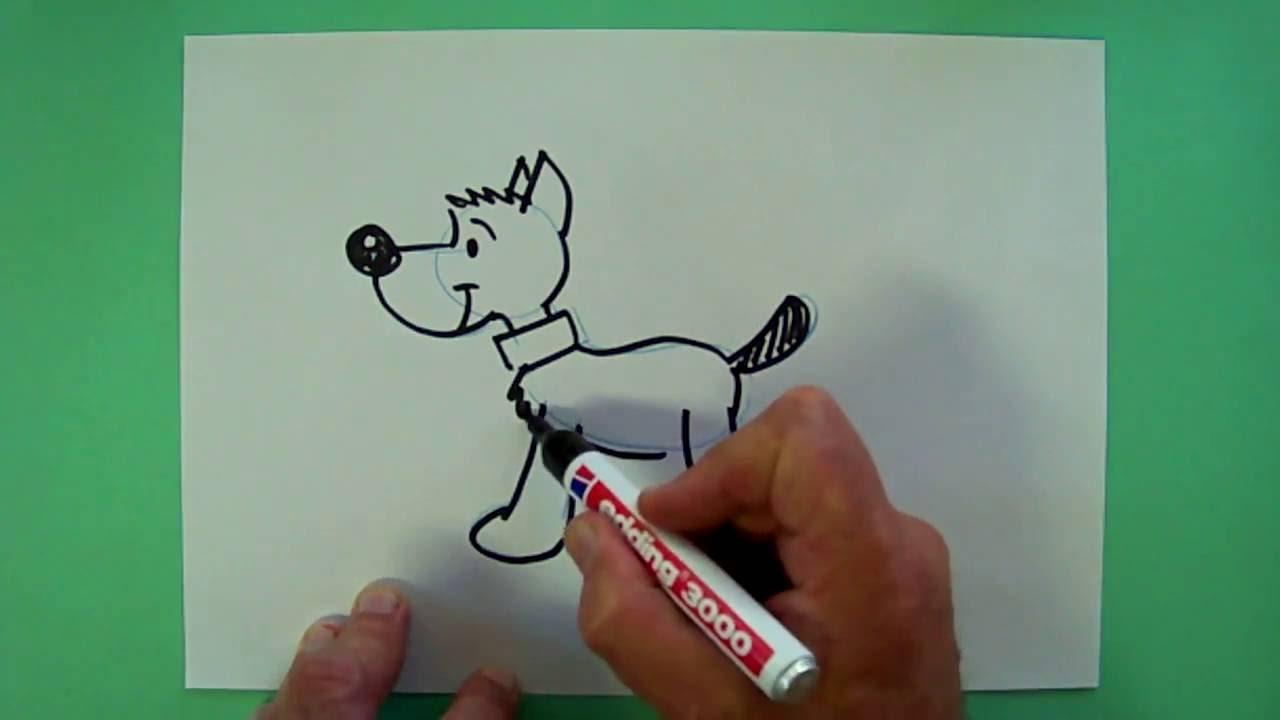 Wie Malt Man Einen Hund Zeichnen Für Kinder