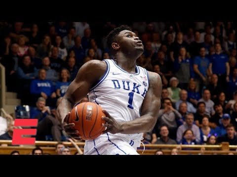 Zion Williamson misses huge dunk, records double-double in Duke win | College Basketball Highlights