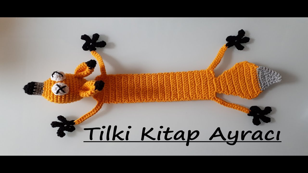 AMİGURUMİ TİLKİ KİTAP AYRACI YAPIMI (CROCHET MAKING FOX BOOKMARKER)