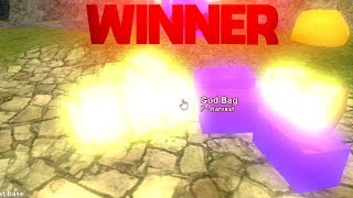 GOD BAG GIVEAWAY WINNER!! (Roblox Booga Booga)