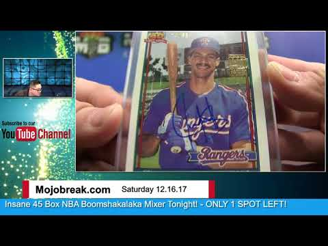 12/16 - Special 2017 Archives Signatures Baseball Post Season 20 Box Case Break Hit Random