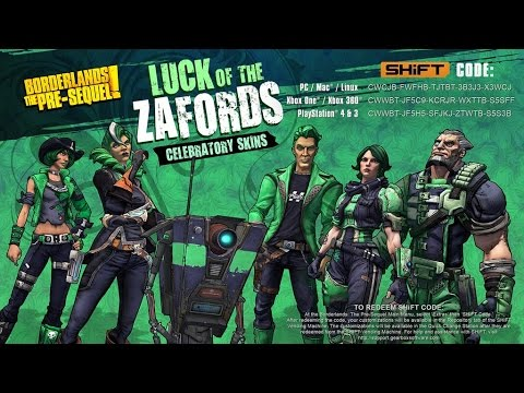 a79597afa Borderlands The Pre Sequel  Happy St. Patrick s Day Skins Shift Codes