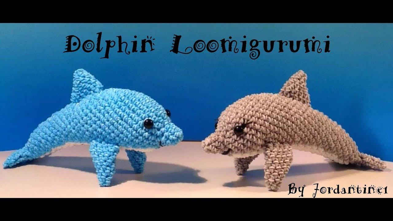 Dolphin Part 2 Loomigurumi Amigurumi Rainbow Loom Band