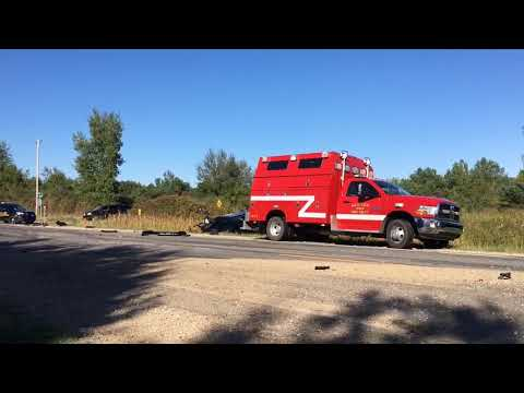 Semi, car left crumpled in Muskegon County crash