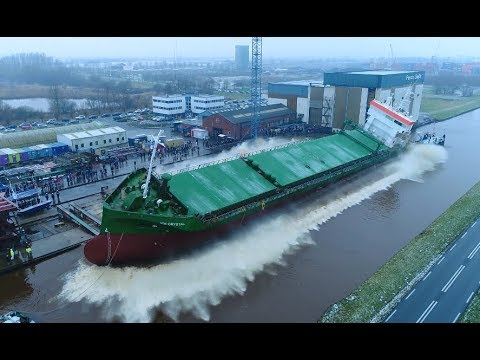 Spectacular Drone Shots in 4K 50p / Slow Motion | Ship Launch ICE CRYSTAL at Ferus Smit