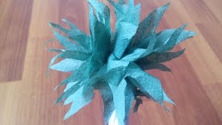 Как сделать цветы георгины из салфеток. Как сделать поделку из салфеток. Самые простые поделки