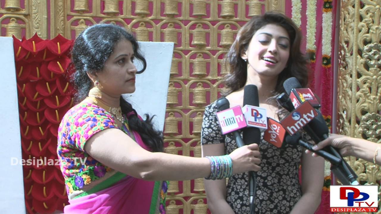Telugu Movie Actress Pranitha speaking to the media at  NATA Convention  2016.