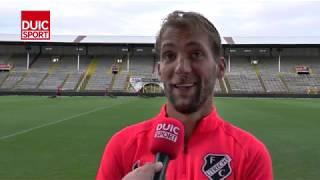 Willem Janssen na afloop van Royal Antwerp FC - FC Utrecht