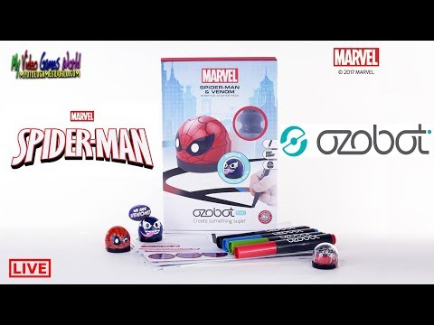 ozobot-|-spiderman-and-venom-|-started-kit-|-live-|-directo-|-my-video-games-world