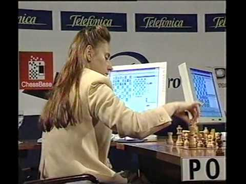 Judit Polgar vs World Champion Anand in Leon 2000