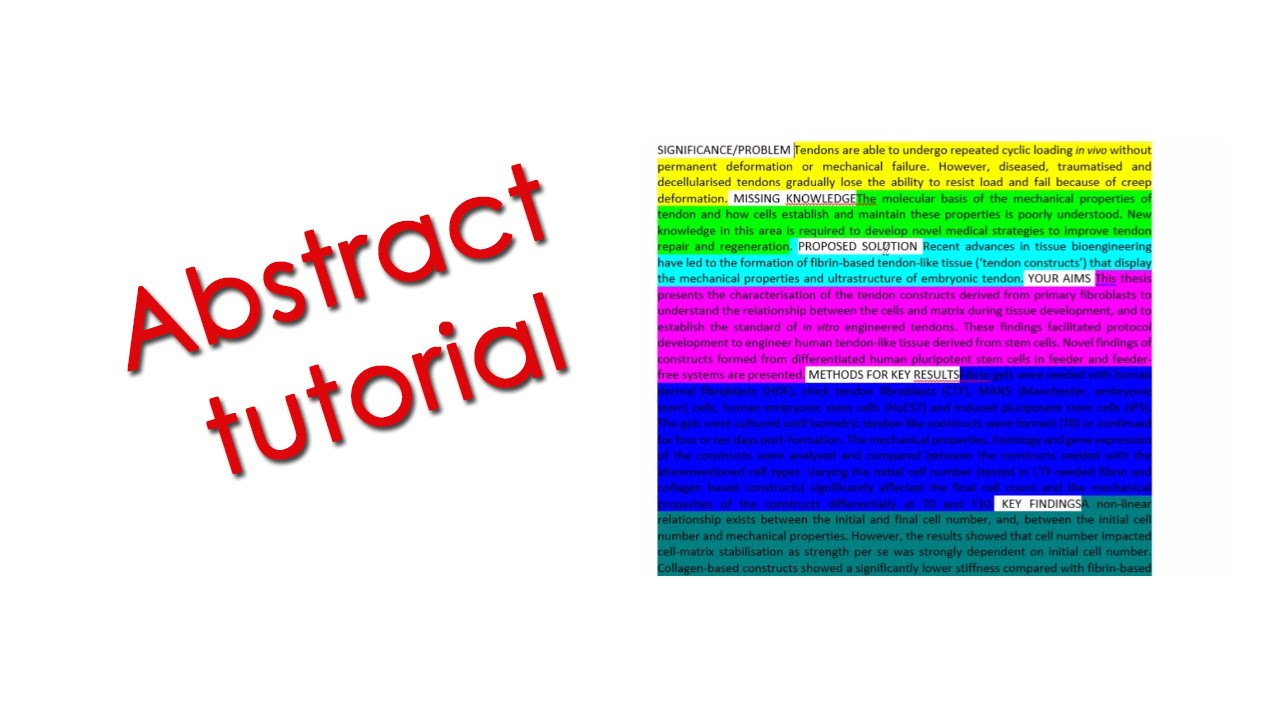 How to Write a Scientific Abstract (with an example) - YouTube