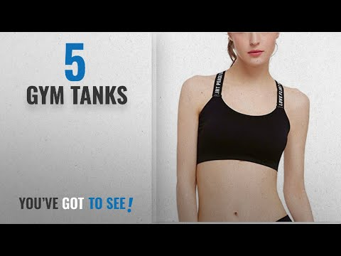 Top 10 Gym Tanks [2018]: Women's Beauty Plus Racerback Gym Tank Fitness Absorb Sweat Seamless Print