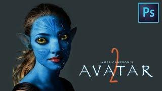 【Avatar 2】アバター2の続編が公開されると聞きフォトショップでアマ...