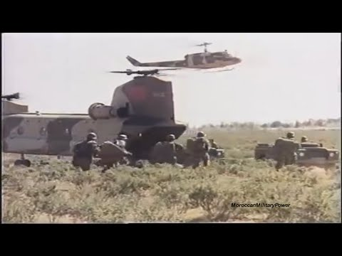Moroccan Military Power Demonstration | 1970 - 1989 | HD
