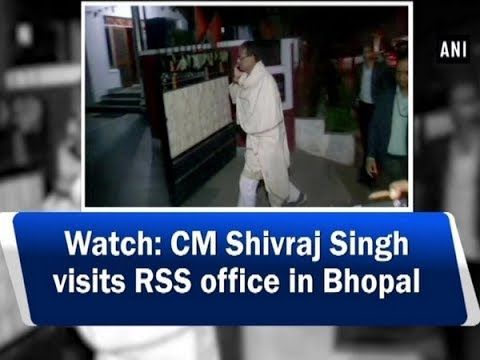 Watch: CM Shivraj Singh visits RSS office in Bhopal