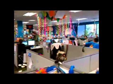 Office prank birthday surprise adr youtube for 50th birthday decoration ideas for office
