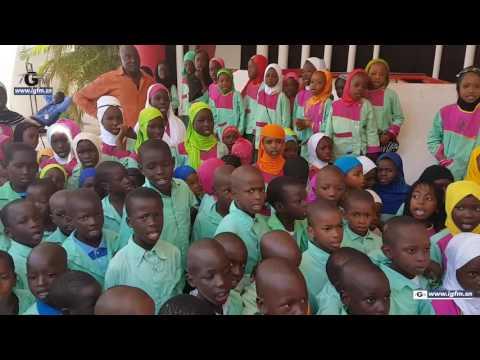 Les charmants élèves de l'école Franco Arabe El Hadj Ibrahima Sarr en visite à Tfm