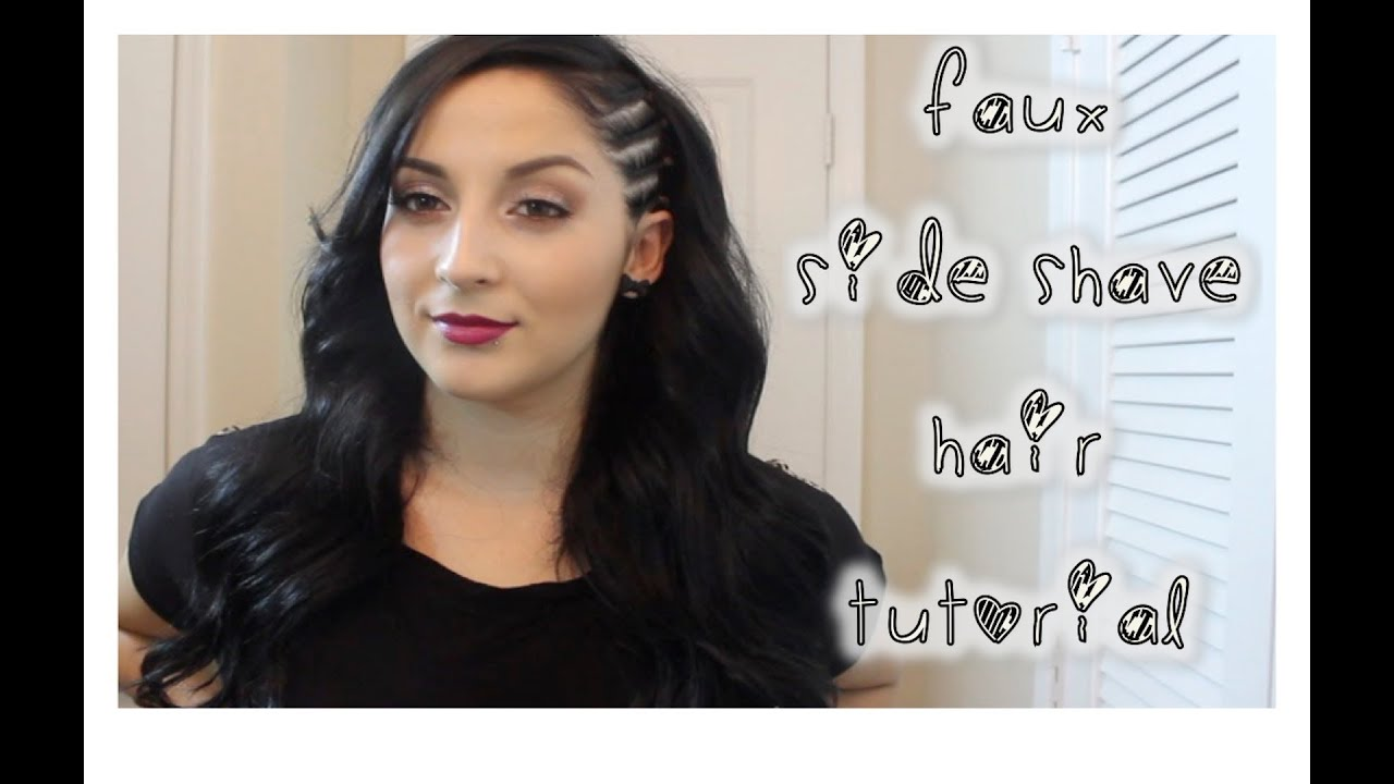 Faux Side Shave Hair Tutorial Youtube