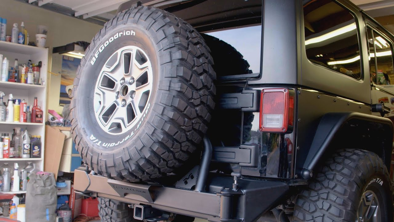 Jeep Wrangler Jk Front Bumper >> Jeep Wrangler Crawler Bumper and Low CG Tire Carrier from ...