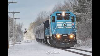 Rare! Central Maine and Quebec Railway Engine Leads the Pan Am OCS!