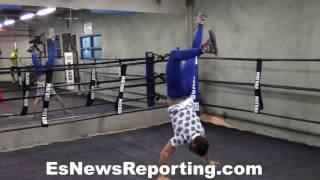 Vasyl Lomachenko Exclusive vid Full Workout And Interview - esnews boxing   ESNEWS