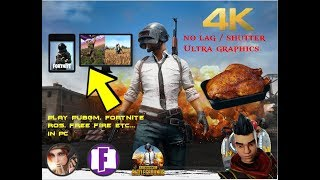 How To Play Pubg mobile || Fortnite || Free fire || Ros in Pc