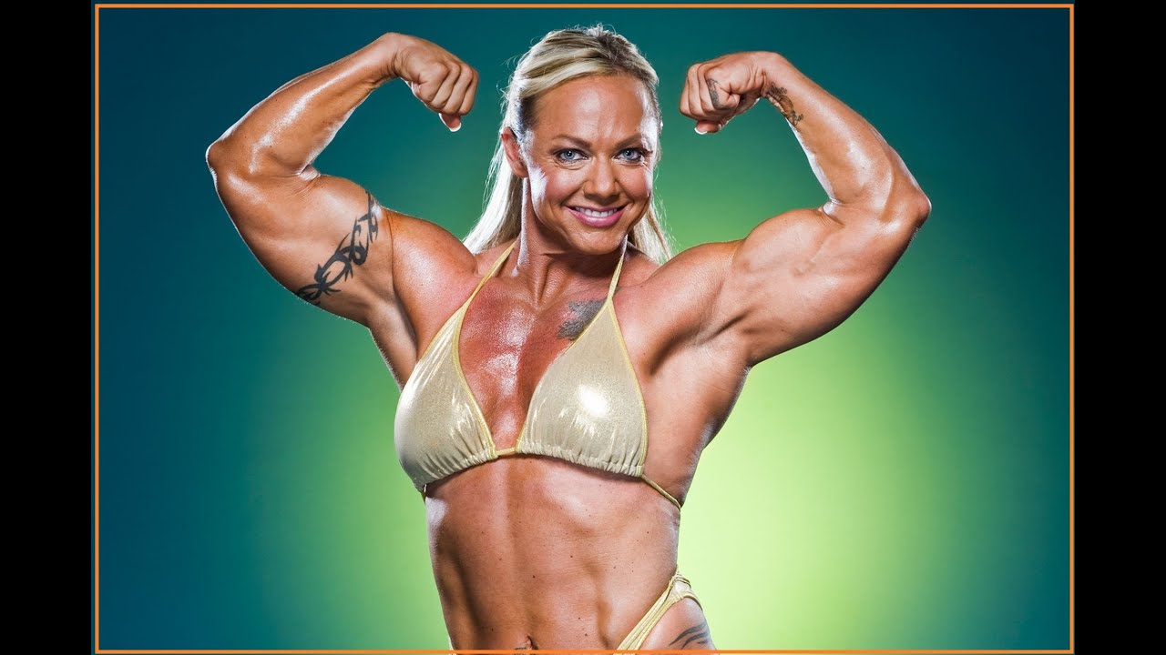 Sexy body builder woman picture